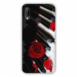 Coque Samsung Galaxy A20e Musique Rose Piano