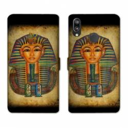 Housse cuir portefeuille Samsung Galaxy A20e Egypte Pharaon