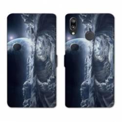 Housse cuir portefeuille Samsung Galaxy A20e Tunnel nuageux