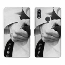Housse cuir portefeuille Samsung Galaxy A20e Judo Kimono