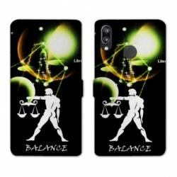 Housse cuir portefeuille Samsung Galaxy A20e signe zodiaque Balance