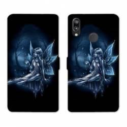 Housse cuir portefeuille Samsung Galaxy A20e Fee Bleu