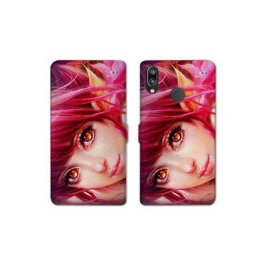 Housse cuir portefeuille Samsung Galaxy A20e Manga Elfe