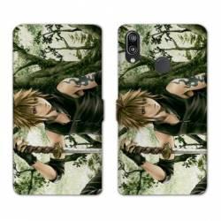 Housse cuir portefeuille Samsung Galaxy A20e Manga bois