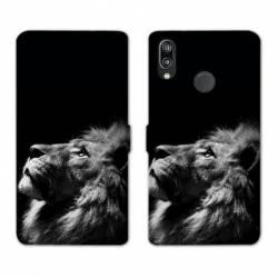 Housse cuir portefeuille Samsung Galaxy A20e roi lion