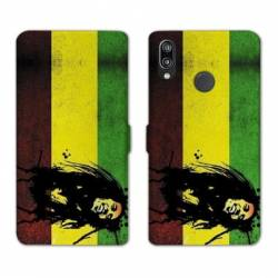 Housse cuir portefeuille Samsung Galaxy A20e Bob Marley Drapeau
