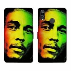 Housse cuir portefeuille Samsung Galaxy A20e Bob Marley 2