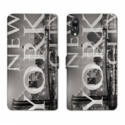 Housse cuir portefeuille Samsung Galaxy A20e Amerique USA New York