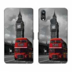 Housse cuir portefeuille Samsung Galaxy A20e Angleterre London Bus