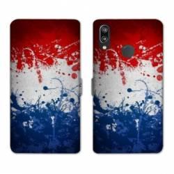 Housse cuir portefeuille Samsung Galaxy A20e France Eclaboussure