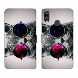 Housse cuir portefeuille Samsung Galaxy A20e Chat Fashion