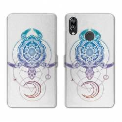 Housse cuir portefeuille Samsung Galaxy A20e Animaux Maori tortue color