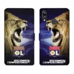Housse cuir portefeuille Samsung Galaxy A20e Licence Olympique Lyonnais - Rage de vaincre