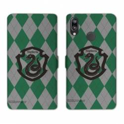 Housse cuir portefeuille Samsung Galaxy A20e WB License harry potter ecole Slytherin