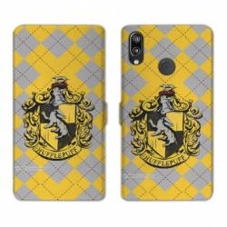 Housse cuir portefeuille Samsung Galaxy A20e WB License harry potter ecole Hufflepuff