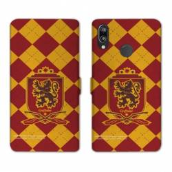 Housse cuir portefeuille Samsung Galaxy A20e WB License harry potter ecole Griffindor