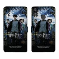 Housse cuir portefeuille Samsung Galaxy A20e WB License harry potter pattern Azkaban