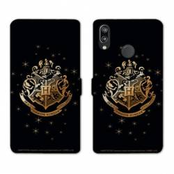 Housse cuir portefeuille Samsung Galaxy A20e WB License harry potter pattern Poudlard