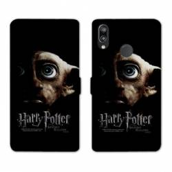 Housse cuir portefeuille Samsung Galaxy A20e WB License harry potter dobby Hollows