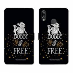Housse cuir portefeuille Samsung Galaxy A20e WB License harry potter dobby Free N