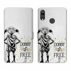 Housse cuir portefeuille Samsung Galaxy A20e WB License harry potter dobby Free B