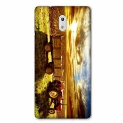 Coque Nokia 1 Plus Agriculture Tracteur color