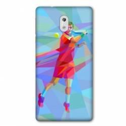 Coque Nokia 1 Plus Tennis Revers Bleu