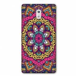 Coque Nokia 1 Plus Etnic abstrait Rosas rose