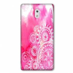 Coque Nokia 1 Plus Etnic abstrait Bouclier rose