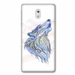Coque Nokia 1 Plus Ethniques Loup Color