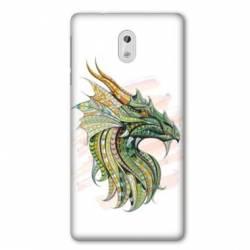 Coque Nokia 1 Plus Ethniques Dragon Color