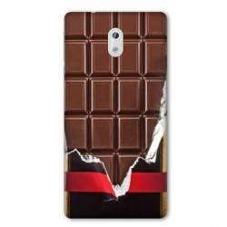 Coque Nokia 1 Plus Trompe œil chocolat