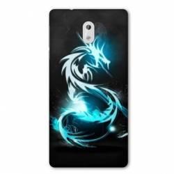 Coque Nokia 1 Plus Dragon Bleu