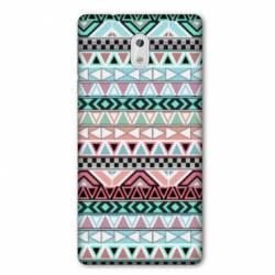 Coque Nokia 1 Plus motifs Aztec azteque turquoise