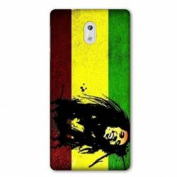 Coque Nokia 1 Plus Bob Marley Drapeau