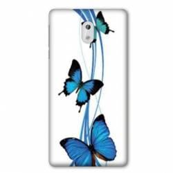 Coque Nokia 1 Plus papillons bleu