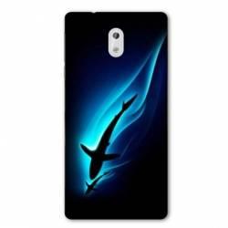 Coque Nokia 1 Plus Requin Noir