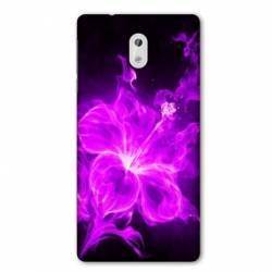 Coque Nokia 1 Plus fleur hibiscus violet