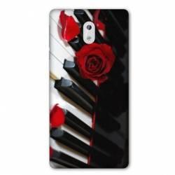 Coque Nokia 1 Plus Musique Rose Piano