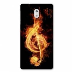 Coque Nokia 1 Plus Musique clé sol feu N