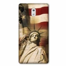 Coque Nokia 1 Plus Amerique USA Statue liberté
