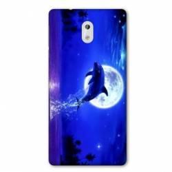 Coque Nokia 1 Plus Dauphin lune