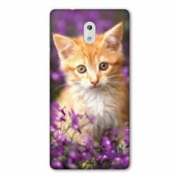 Coque Nokia 1 Plus Chat Violet