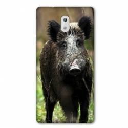 Coque Nokia 1 Plus chasse sanglier bois