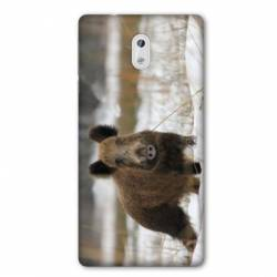 Coque Nokia 1 Plus chasse sanglier Neige