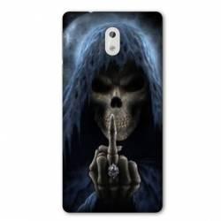 Coque Nokia 1 Plus tete de mort Doigt