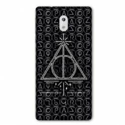 Coque Nokia 1 Plus WB License harry potter pattern triangle noir
