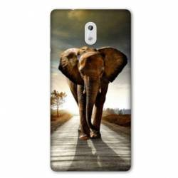 Coque Nokia 2.2 savane Elephant route