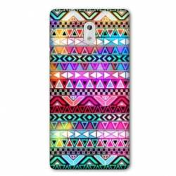 Coque Nokia 3.2 motifs Aztec azteque rouge