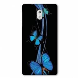 Coque Nokia 3.2 papillons bleu